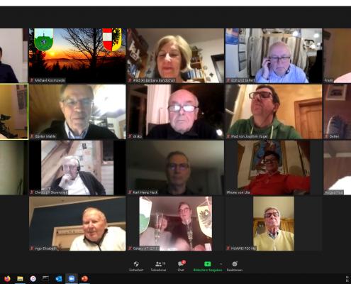"""""""Virtueller Neujahrsempfang"""" als Zoom-Meeting - die Teilnehmer"""